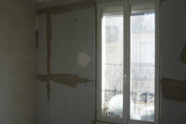 chantier en cours : pose des panneaux Calsitherm