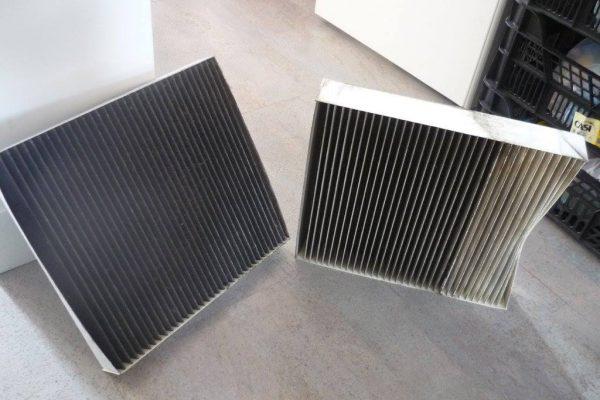 """""""les filtres de la ventilation double flux après 10 mois d"""
