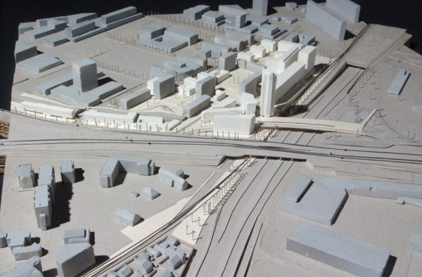 maquette du projet 1. échelle : 1/1000e